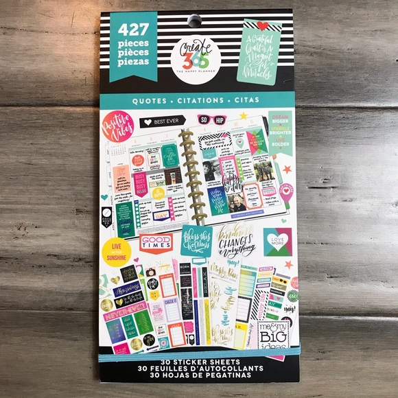 Me & My Big Ideas Other - The Happy Planner Sticker Book - Quotes